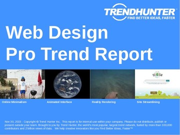 Web Design Trend Report and Web Design Market Research