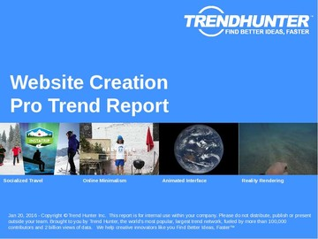 Website Creation Trend Report and Website Creation Market Research