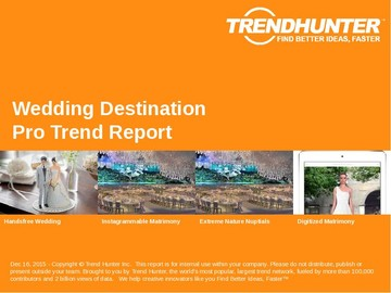 Wedding Destination Trend Report and Wedding Destination Market Research