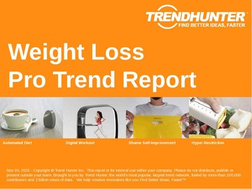 Weight Loss Trend Report and Weight Loss Market Research