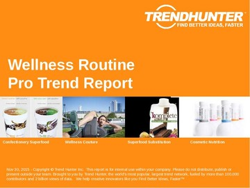 Wellness Routine Trend Report and Wellness Routine Market Research