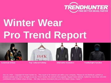 Winter Wear Trend Report and Winter Wear Market Research