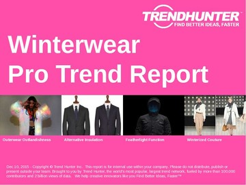 Winterwear Trend Report and Winterwear Market Research