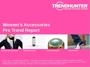 Women's Accessories Trend Report and Women's Accessories Market Research