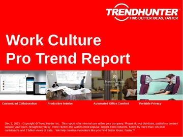 Work Culture Trend Report and Work Culture Market Research