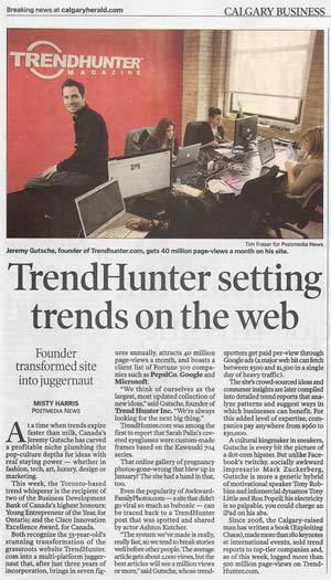 Trend Hunter and Jeremy Gutsche Award