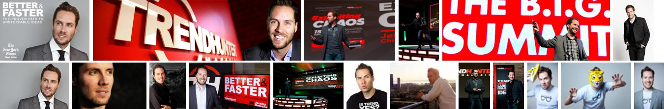 Jeremy Gutsche Innovation Keynote Speaker Profile Pictures