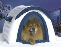 Intergalactic Doggie Homes - The Inflatable Air-Insulated Dog House is Great for Men Too