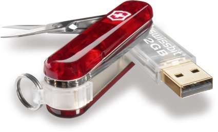 USB Knives - Swiss Army's 'Swissbit' Comes with a 2 GB USB