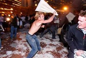 Real-Life Fight Clubs - Underground Pillow Fighting Rings Pop Up Worldwide