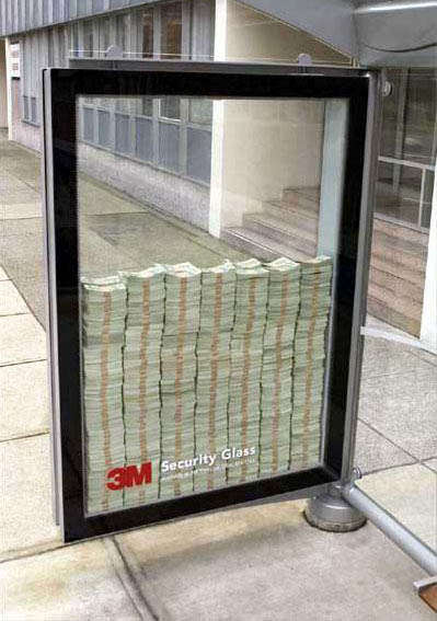 3M Canada Security Glass Filled with Real Money