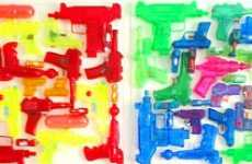 Square of Squirtguns Wall-Hanging