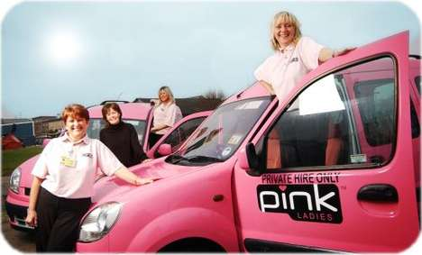 A Pink Taxi For Ladies Only