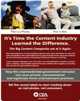 Consumer Electronics Association Ad Campaign Slams RIAA