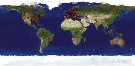 Clustr Maps