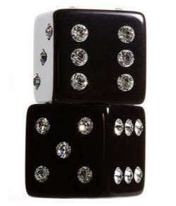 Crystal Studded Dice