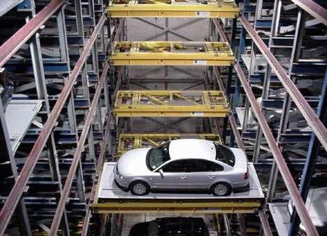 Giant Robot Imprisons Parked Cars