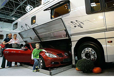 RVs with Carports - The Volkner RV Garage Lets You Stow Your Car
