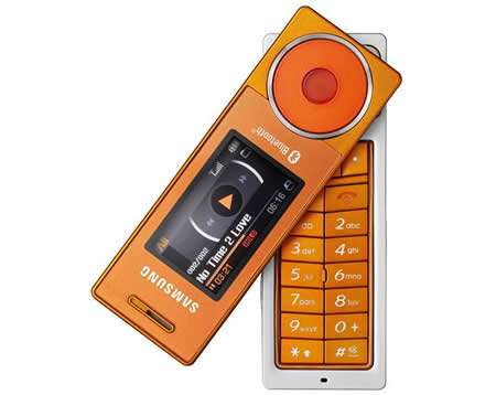 Swivel Phones - Samsung X830 in Orange