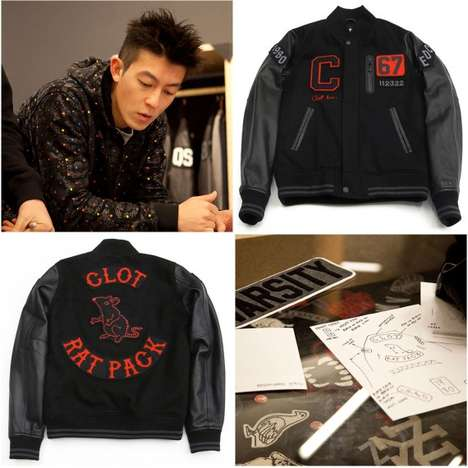 Stylish Black Letterman Jackets