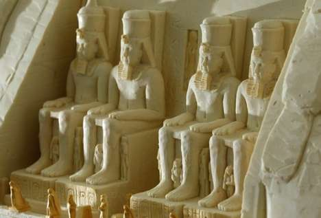 White Chocolate Statues - The 'World Heritage Monuments' Replica is Made Out of Chocolate