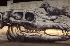 Skeletal Street Art - Roa Graffiti in NYC is an Epically Awesome Update