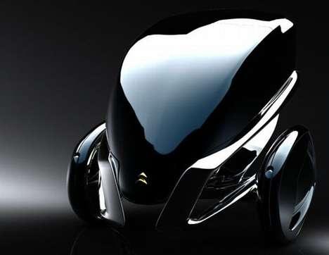 Futuristic Floral Vehicles