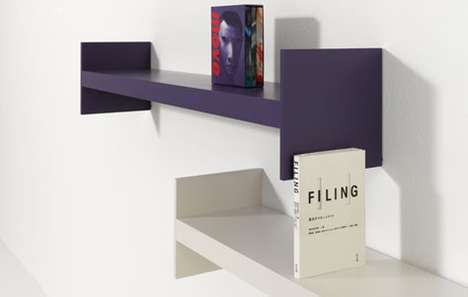 The Wink Shelf by Udo Schill Has Built-In Bookends