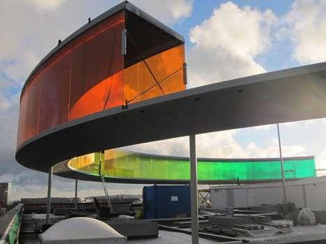 Panoramic Rainbow Rooftops