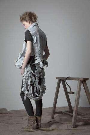 Mod Distressed Denim Fashion