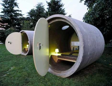 Urban Tube Hotels (UPDATE) - Das Park Hotel Creates Rooms Out of Sewer Pipes