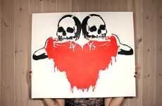 Violent Art Stencils - These Prints by Irmantas Genotas are Definitely Not Children-Friendly