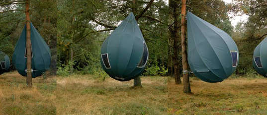 Portable Camping Pods : Examples of eco camping equipment