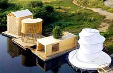 Floating River Saunas - The Kaluga Sauna is an Eco-Friendly Swimming Spa