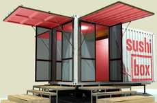 Shipping Container Sushi Joints - The SushiBOX Restaraunt is an Eatery That Knows How to Pack it In