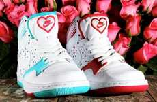 Heartthrob Kicks - These Nike Valentine's Day Court Force Highs are for Sneakerhead Girlfriend
