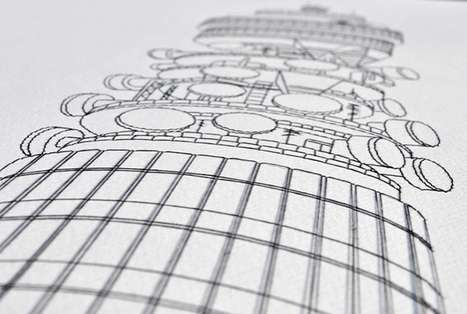 Delicate Embroidered Drawings