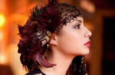 Delicate Feathered Headpieces