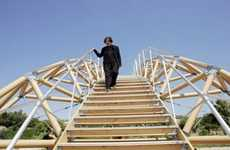 Crafted Paper Bridges - Shigeru Ban Built a River-Spanning Bridge Out of 281 Cardboard Tubes