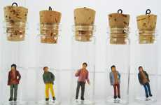 Boy-Toy Pendants - Replace Your Sweetheart With the Boyfriend in a Bottle