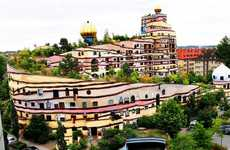 Bizarre Eco Buildings - The Waldspirale by Friedensreich Hundertwasser is a Quirky Green Structure