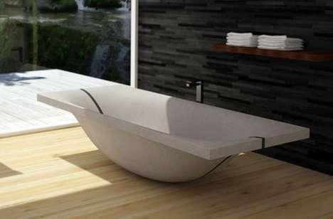 Curving Concrete Baths