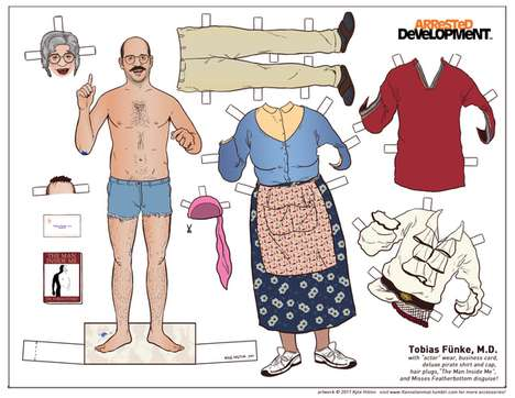 DIY Cult Character Cut-Outs - Make Your Own Arrested Development Paper Dolls