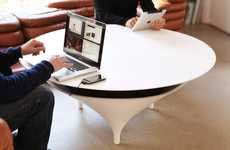 Sound System Tabletops - The Acoustable Coffee Table Blasts Music in a Discrete Design
