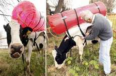 Bovine Methane Backpacks - This Incredulously Green Innovation May Seem Fart-Fetched