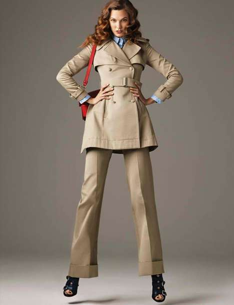 Feminized Trench Coats