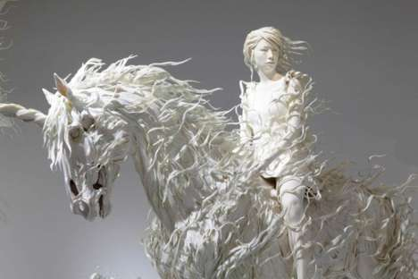 Flowing Unicorn Sculptures