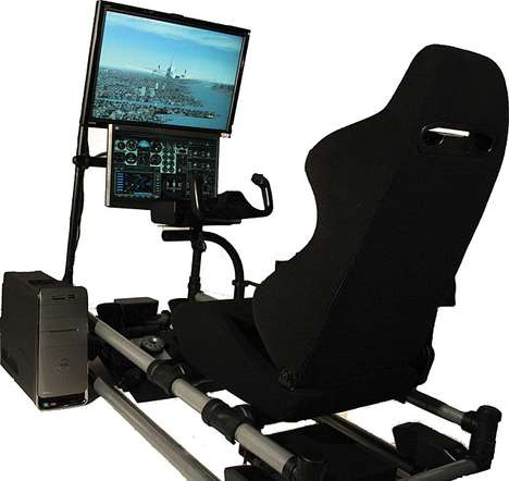 Head Into the Danger Zone With the Cockpit Flight Simulator
