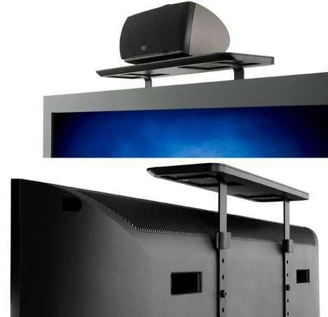 Space-Saving TV Shelves