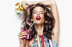 Wax-Like Supermodels - The Alessandra Ambrosio Love Magazine #5 S/S 2011 Editorial is Vivid